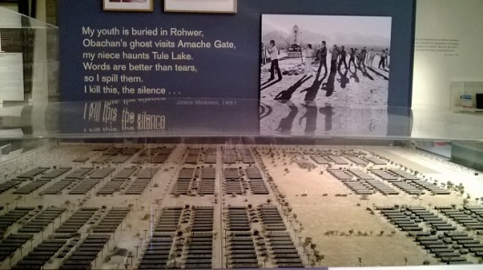 Model of Tule Lake Internment Camp. Photo by M.C.
