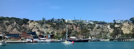 Dana Point Harbor Cove with view of Ocean Institute. Photo by M.C.