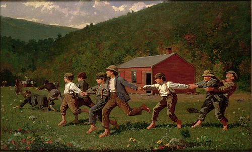 Snap the Whip by Winslow Homer, Oil, 1872